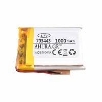 باتری لیتیوم پلیمر 3.7v ظرفیت 1000mAh