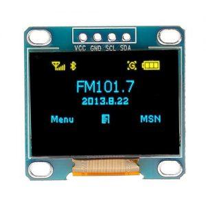 ماژول نمایشگر OLED دورنگ زرد/آبی 0.96 اینچ دارای ارتباط I2C