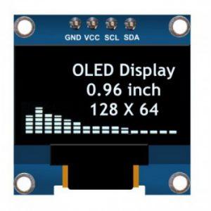 ماژول نمایشگر OLED سفید 0.96 اینچ دارای ارتباط I2C