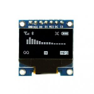 ماژول نمایشگر OLED سفید 0.96 اینچ دارای ارتباط SPI